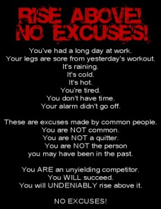 No excuses page - pic